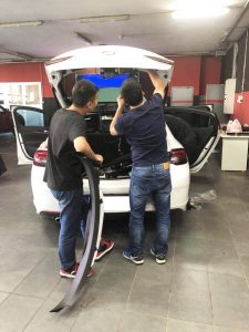 Changyi power trunk installation