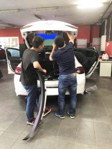 Changyi power trunk installation